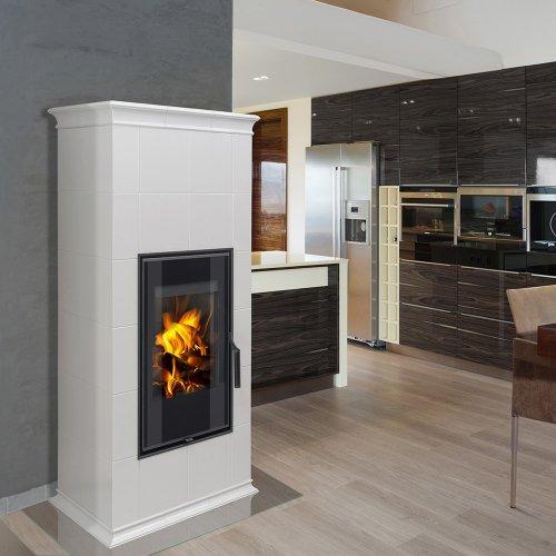 HEIN ESTE 6 H керамика - современная изразцовая печь для загородного дома