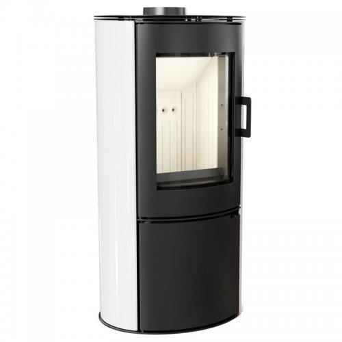 KOZA/AB/S/DR/KAFEL/BIALY - отдельностоящая печь с облицовкой белого цвета