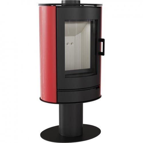 KOZA/AB/S/N/O/DR/KAFEL/CZERWONY - печь-камин с красной кафельной отделкой