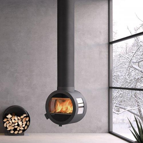 Me Ceiling - стальная печь подвесная с боковыми стеклами