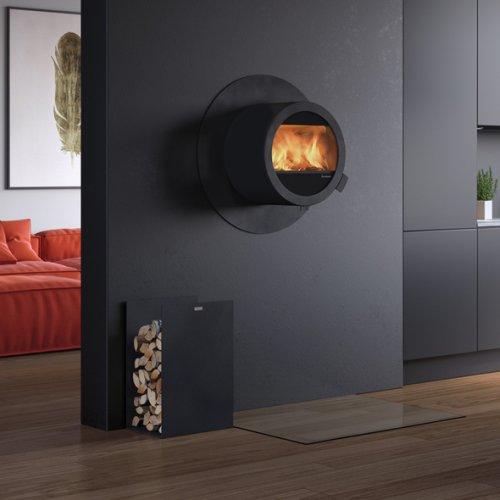 Me Wall - круглая настенная печка с огнезащитой