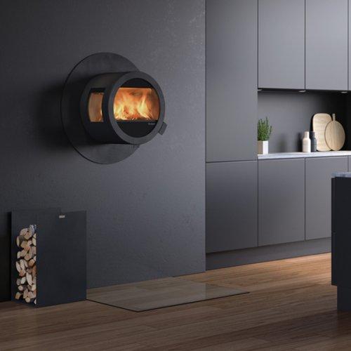 Me Wall - настенная печь с боковыми стеклами, с огнезащитой