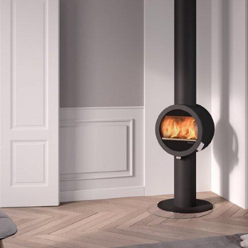 Me Pedestal - стальная печь на круглом пьедестале