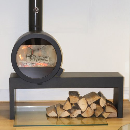 Me Bench - стильная печь на П-образной подставке