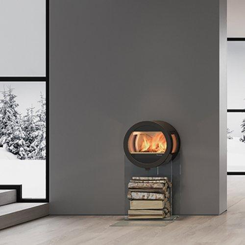 Me Glass - камин-печь в стиле Хай-Тек с боковыми стеклами
