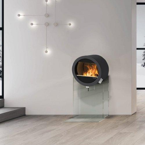 Me Glass - дровяная печка на стеклянной подставке