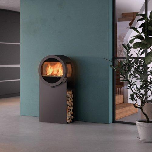 Me Steel - дровяная печь из стали с боковыми стеклами