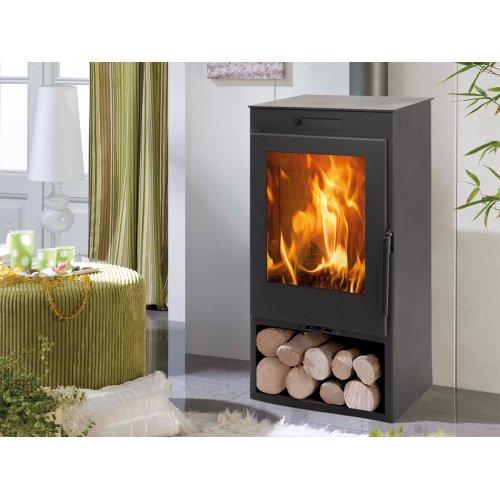 Zahara EcoDesign - Стальная печка с отсеком для дров
