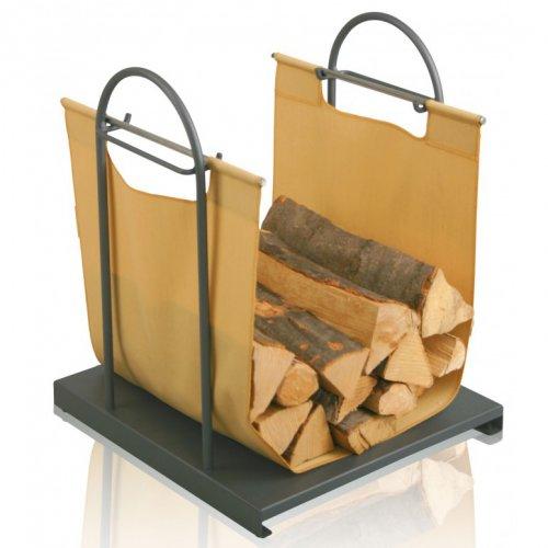 арт. 52342-036 Стильная дровница-сумка с металлической подставкой