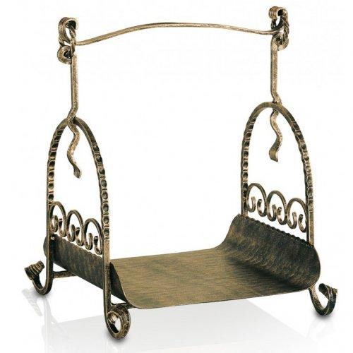 арт. 52040-001 Бронзовая дровница с художественной ковкой