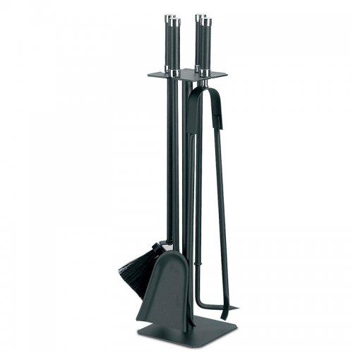 арт. 50.514C (черный+хром) - каминные приборы из окрашенной стали