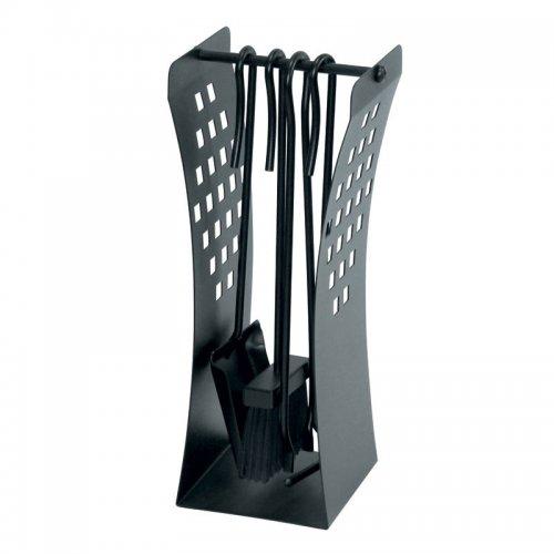 арт. 50.567 (черный) - каминные инструменты на напольной стойке