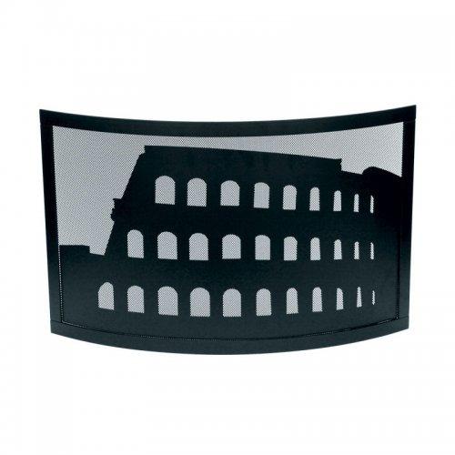 арт. 50.486 Colosseo (черный) - декоративная каминная ширма от искр
