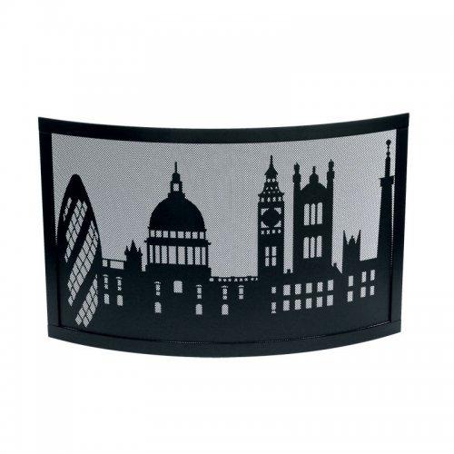 арт. 50.486 London (черный) - дизайнерский искрозащитный экран