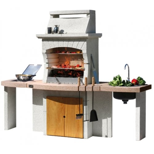 Tangeri - многофункциональная печь с раковиной и газовой плитой