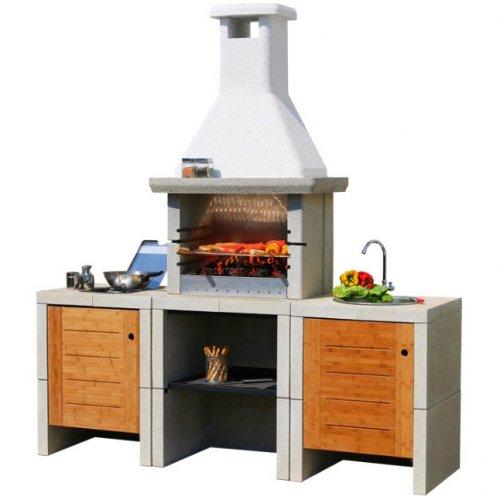 Melody 3 WI - трехблочный комплект барбекю с раковиной и встраиваемой газовой плитой