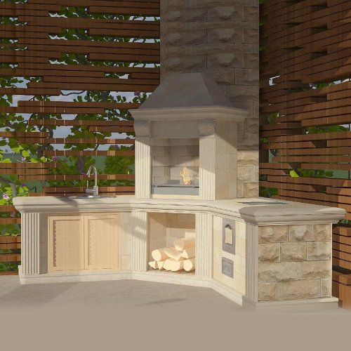Ногуера 3 - Многофункциональная печь с встроенной мойкой
