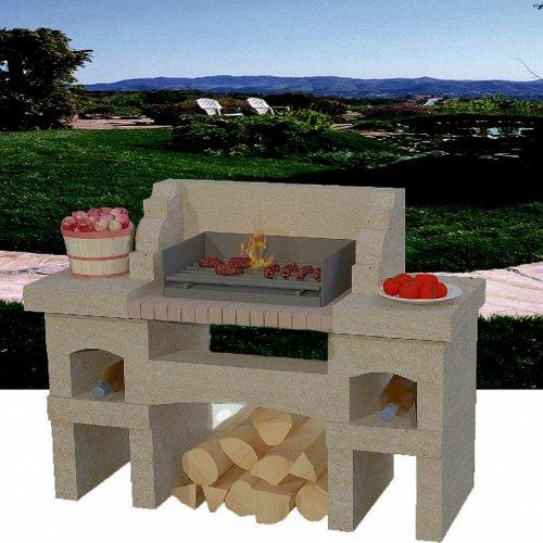 Мерлот - Красивая стационарная печь для барбекю