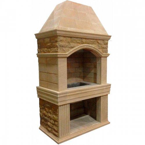 Александрия - Модель уличного каменного барбекю с нижней дровницей