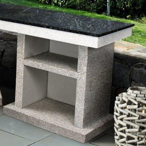 Стол из бетона с каменной столешницей