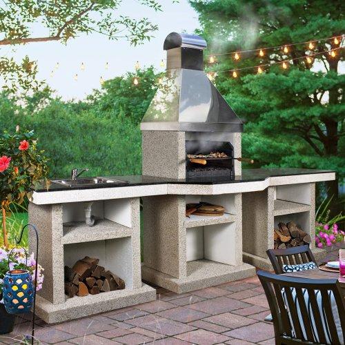 Darina+стол+мойка (XL) - многофункциональная печь из натуральных материалов