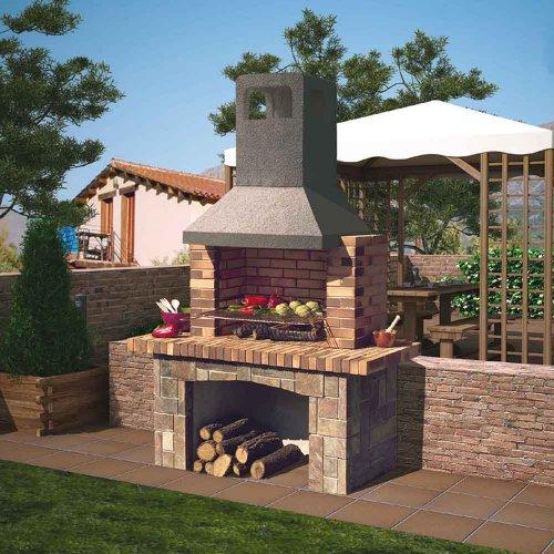 Terra Alta (Терра Альта) - Уличная печь-барбекю из огнеупорного кирпича и бетона