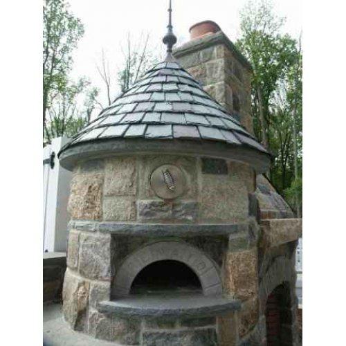 Печь-барбекю в виде башни