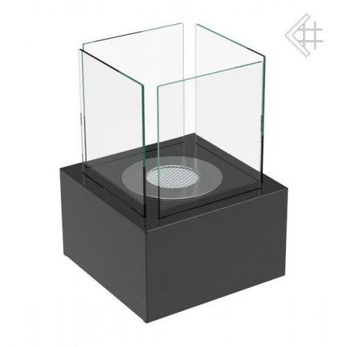 TANGO 2 черный - декоративный биокамин из стекла и металла