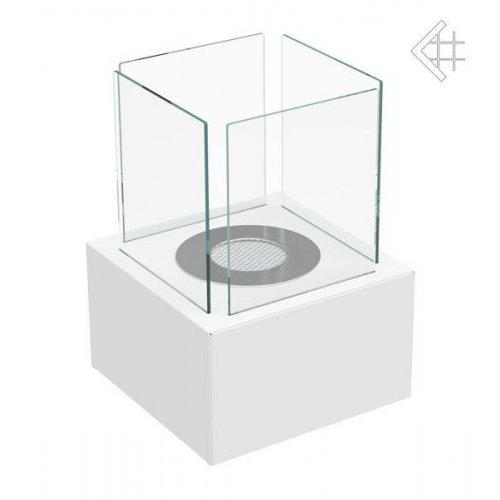 TANGO 2 белый - Стеклянный камин, работающий на биотопливе