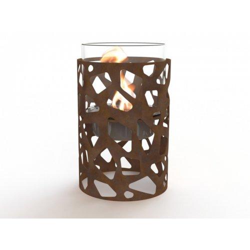 Tile I (Тиль I) - Камин из стекла и оксидированной кортен-стали