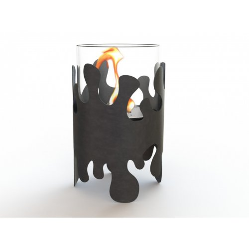 Splash III (Сплеш III) - Ажурный камин из жаропрочного стекла и кортен-стали