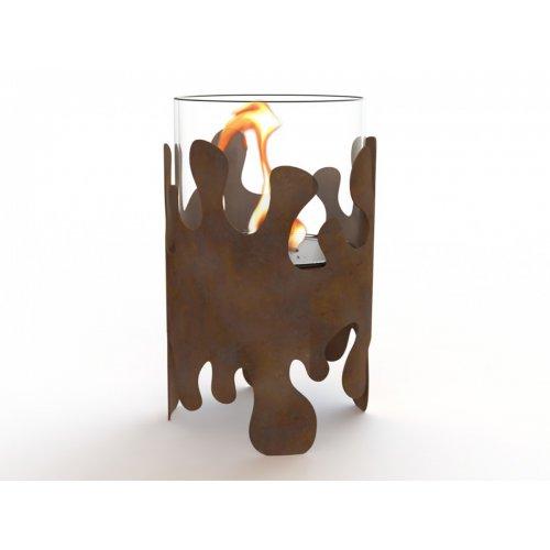 Splash I (Сплеш I) - Дизайнерский био-камин из оксидированной кортен-стали