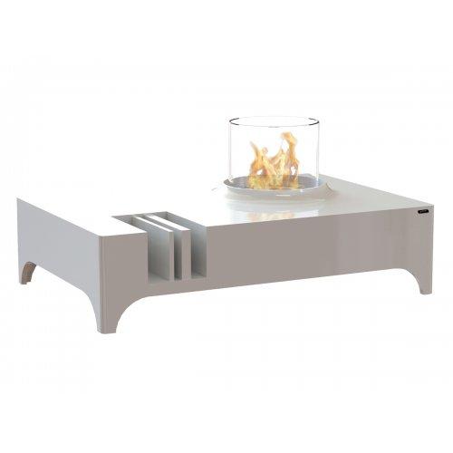 Vulcanu (Вулкану) - Лакированный столик со стеклянной биотопкой