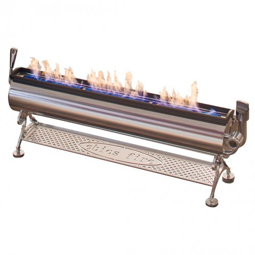 Steel - напольный камин с горизонтальной линией огня