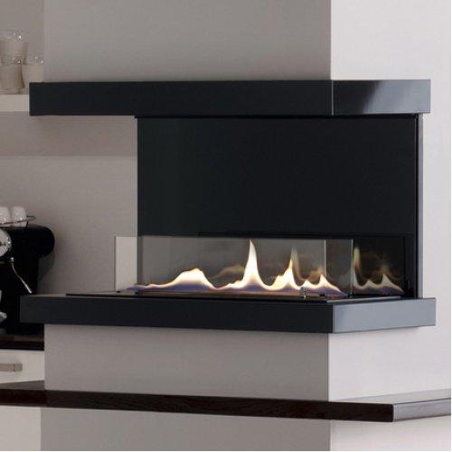Ebios Fire C - Трехсторонний камин с красивым пламенем