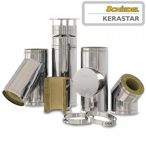 KERASTAR - дымоход из нерж. стали с внутренней керамической трубой