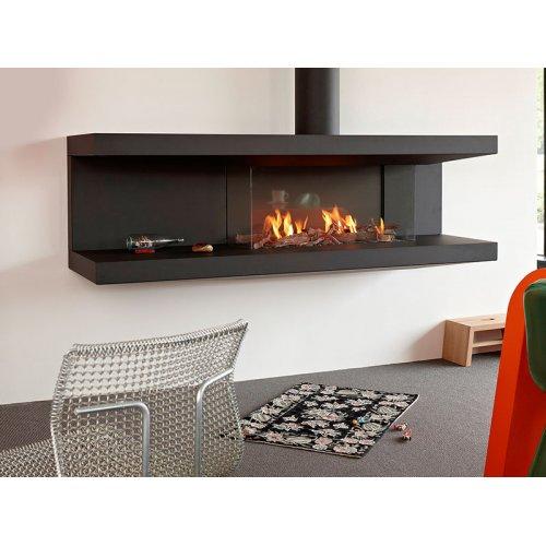 C-fire 200 HR - Закрытый газовый камин с горизонтальным стеклом