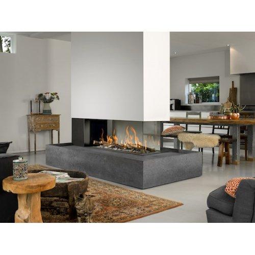 Room Divider Large 3 - Трехсторонний камин с горизонтальной топкой