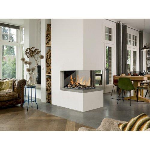 Room Divider Medium 3 - П-образный камин с газовой горелкой