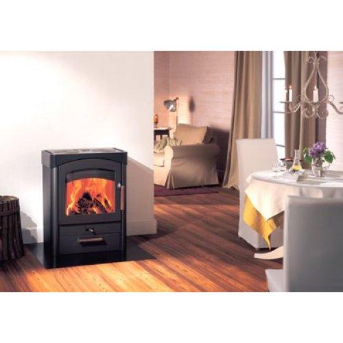 Pallas сталь - Каминная печка с корпусом из огнеупорной стали