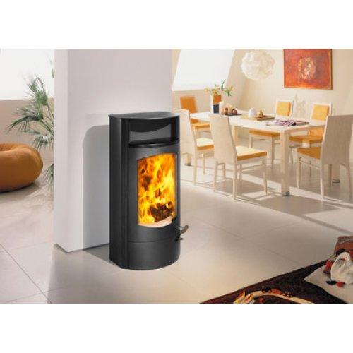 Koko 2.0 сталь - Стальная печь-камин с нишей из керамики