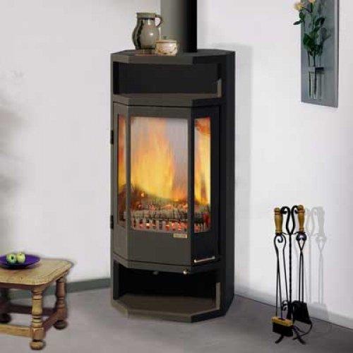 Рейн - мощная печь каминного типа с увеличенным обзором пламени