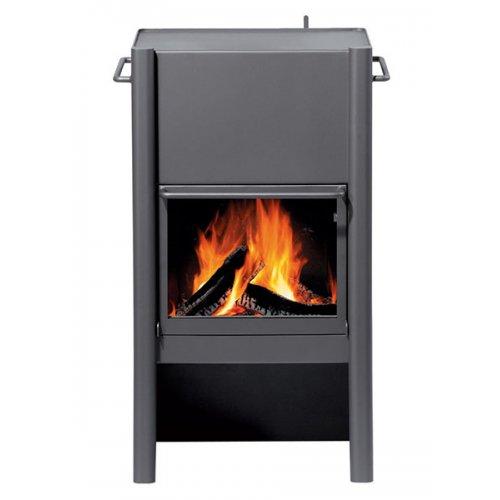 HL4 - Металлическая печка с прямой стеклянной дверкой