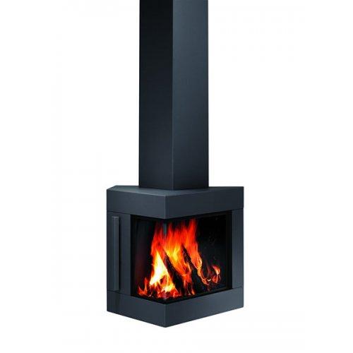 Trias - Дизайнерская печь из стали с настенным монтажом