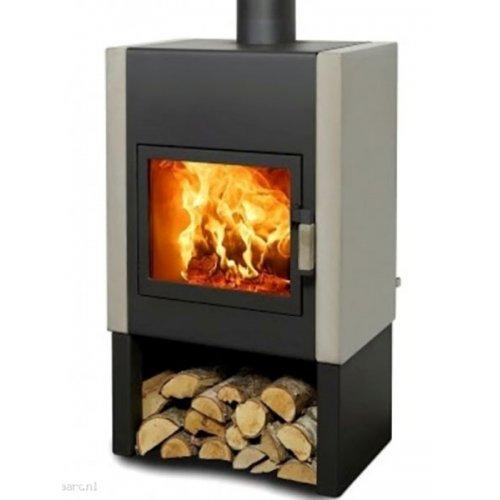 Mats - Современная печка с нижним отсеком для дров