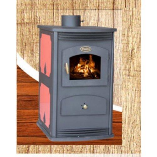 STYLE 1 с плиткой - Эргономичная отопительная печь из стали