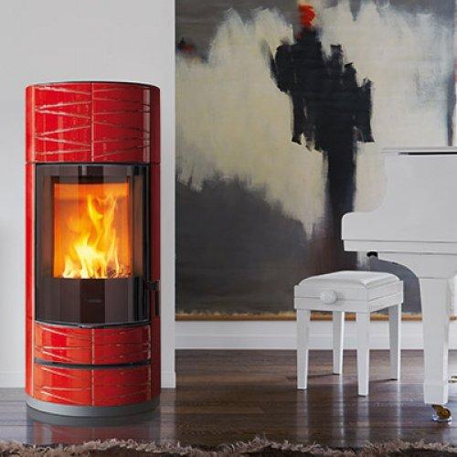 ROUND M (Роунд M) - Керамическая печка для дома объемом до 215 куб.м.