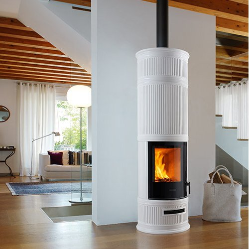 E 929 C-H BCS - Высокая круглая печка с системой контроля горения