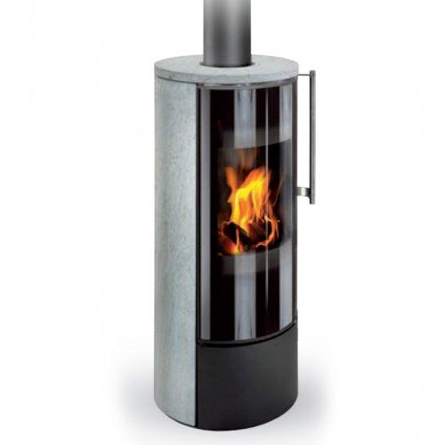 Romotop IRUN N камень - мощная печь из листовой стали и камня
