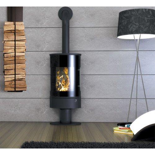 STORCH HIERRO 3SF - каминная печь на круглой ноге, трехстороннее стекло